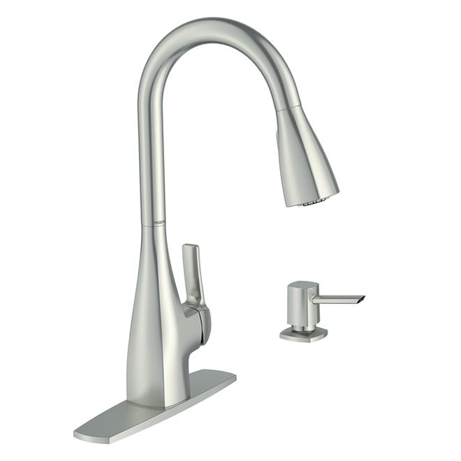 Moen - 1-Handle Pull-Down Kitchen Faucet - Spot Resist ...