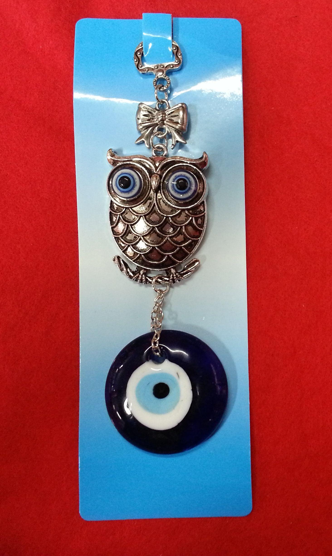 ad76ad567846 Colgante de ojo turco con buho