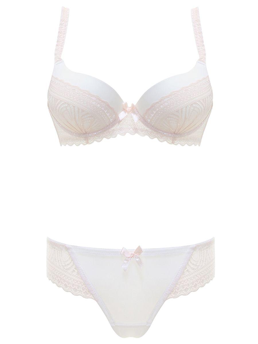 b1f2f7f7a9b5 Burvogue Lace Transparent Underwear Padded Push Up Bra Sets Lingerie ...