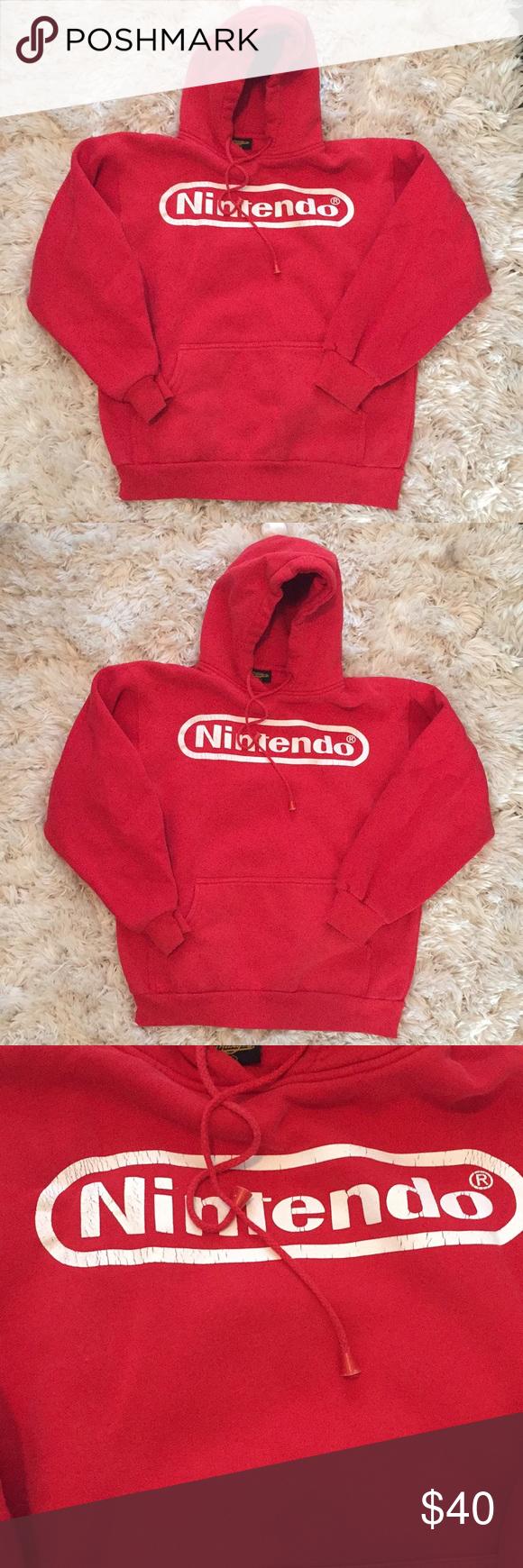 Vintage Nintendo Hoodie Hoodies Nintendo Shirt Sweatshirts [ 1740 x 580 Pixel ]