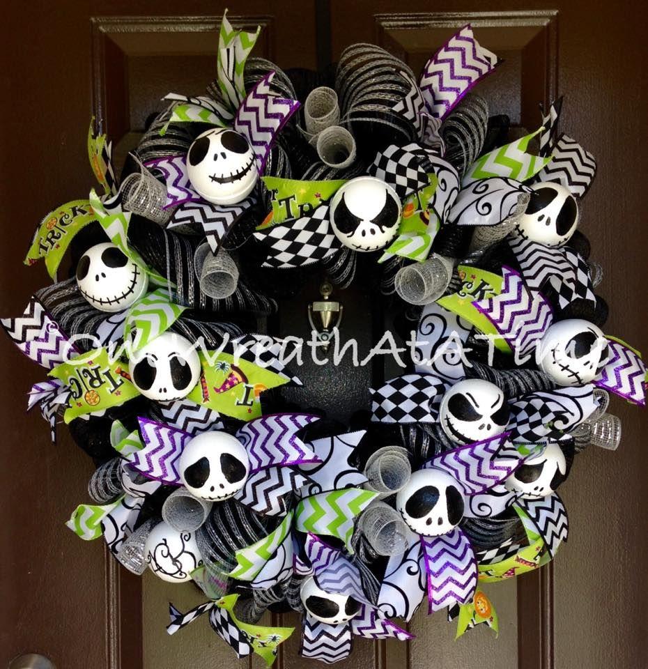 Nightmare Before Christmas Wreath Jack Skellington Wreath ONE WREATH ...