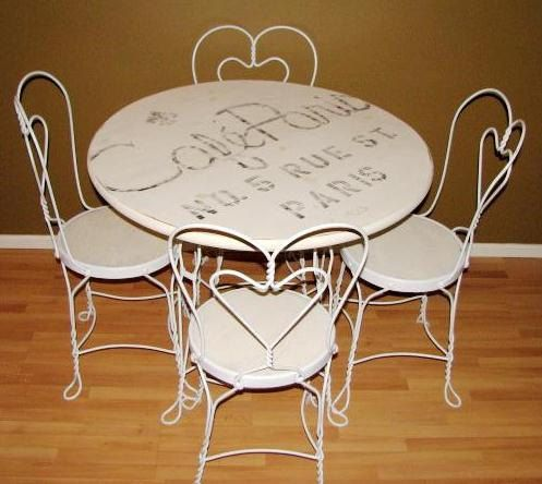 Very Nice 1920 S Ice Cream Parlor Table And Chairs Set 395 00 Via Etsy