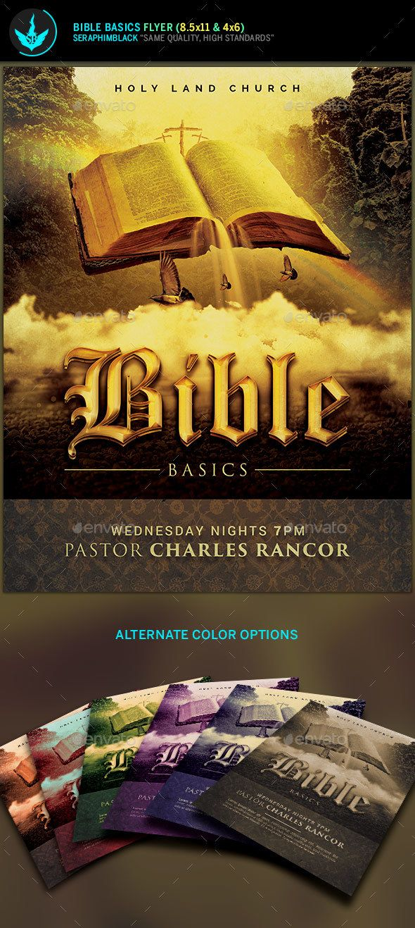 Bible Basics Church Flyer Template  Flyer Template Template And