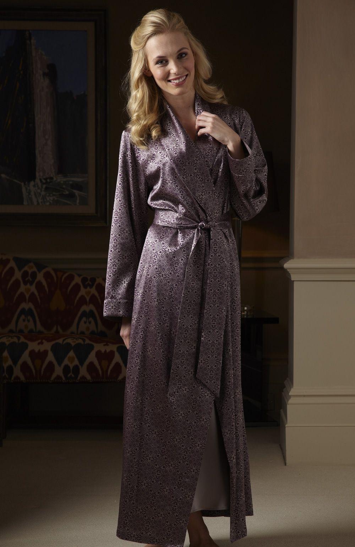 Luxury Silk Dressing Gown | Bonsoir of London | Tickling my fancy ...