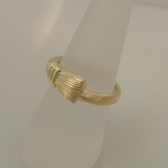 Paint Brush Ring In 10k Gold By Bijouxcraftsboutique On Etsy 275 00 Brushed Ring 10k Gold Gold