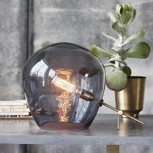 lampe a poser globe verre