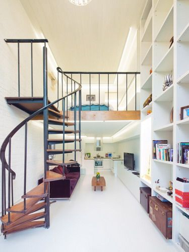 Interior Design Small House Long Narrow Living Room Decor Contemporary Staircase Ideas