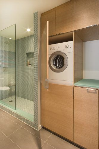 A Way To Hide Washer Dryer Laundry In Bathroom Ideas