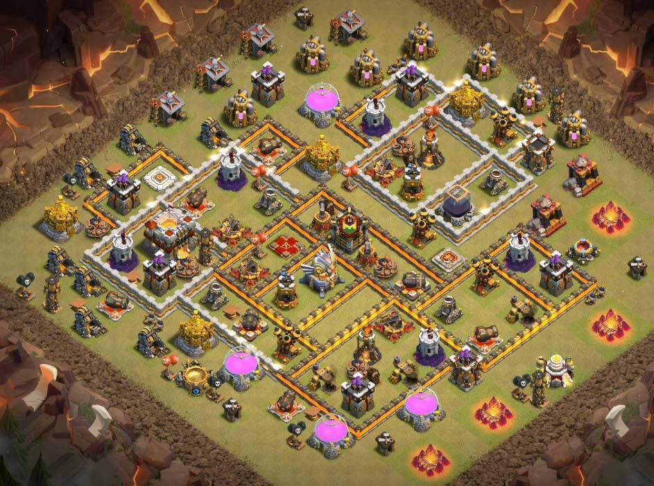 Base Coc Th 11 War 1