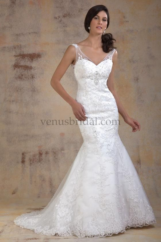 Venus Wedding Dress Gown White Mermaid Style Beading Strapless With Cap Sleeves Sweetheart Neckline For The Bride Boutique Ft
