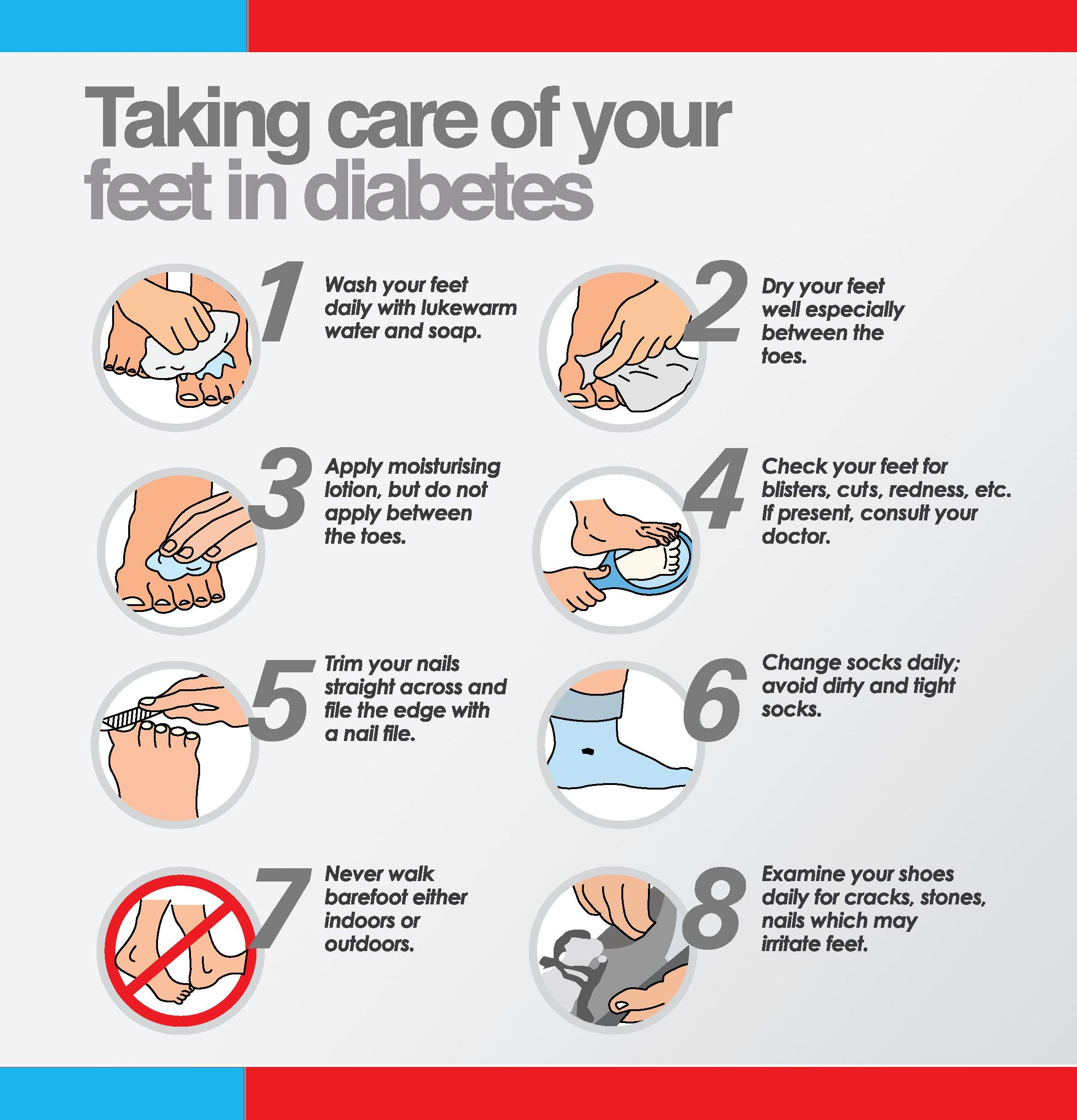 taking care of your feet if diabetic   follow this simple