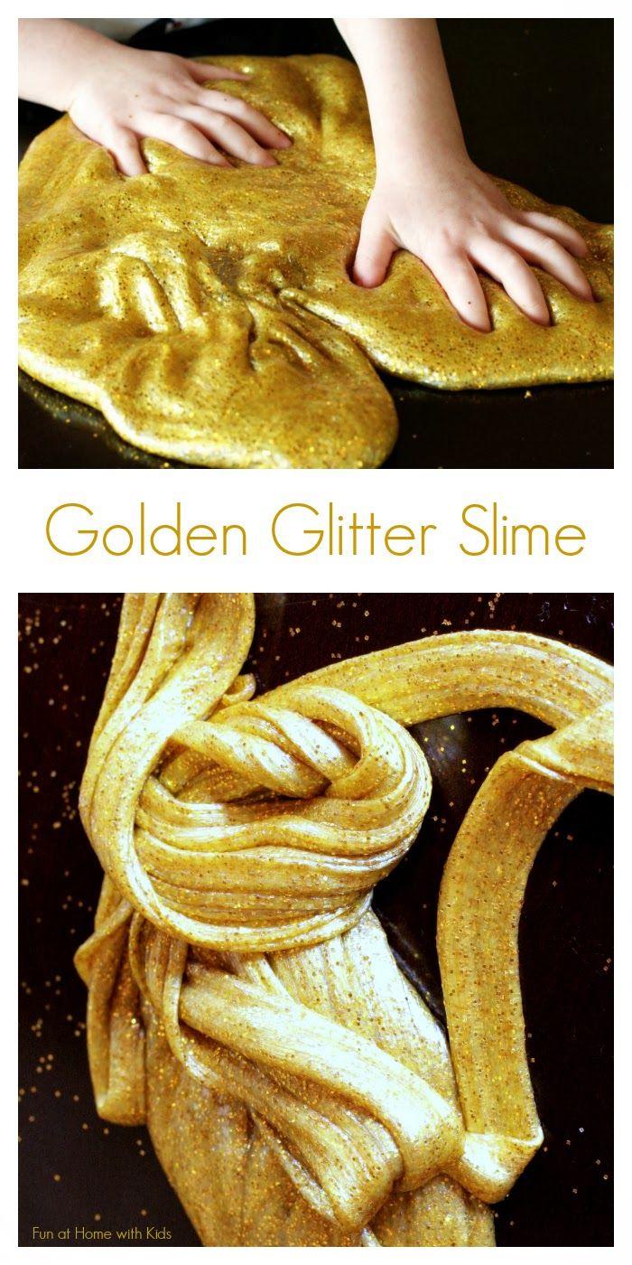 golden glitter slime kids rezepte. Black Bedroom Furniture Sets. Home Design Ideas