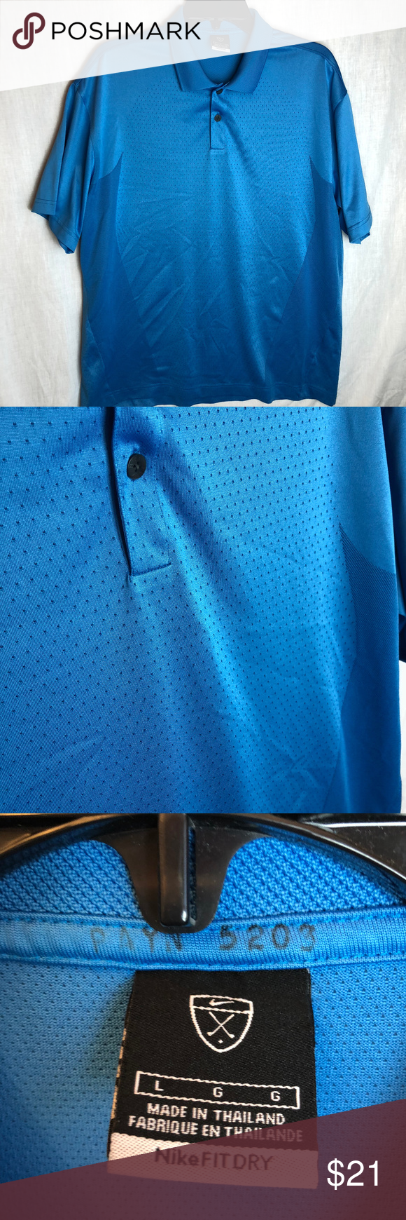 8512a6bd9f0d1e Nike Golf Fit Dry Body Mapping Polo Shirt Large This is for a Nike Golf Fit