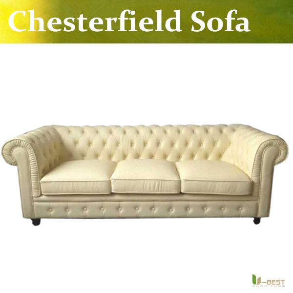 u-best high quality leather chesterfield sofa in beige color,brand new  chesterfield 3 seater sofa antique real leather couch RFV6H9GH