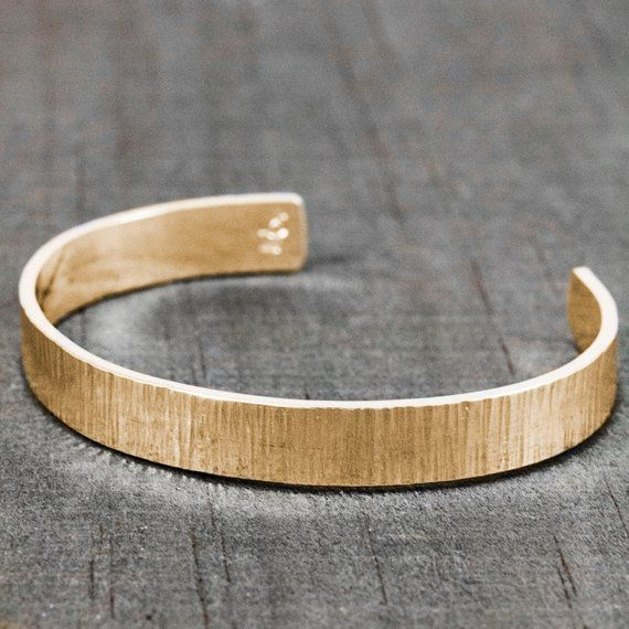 dfdf3f0f45d Men's Solid 14K Gold Bracelet - Personalized Gift for Him - Custom Engraved  Bracelet - Birthday