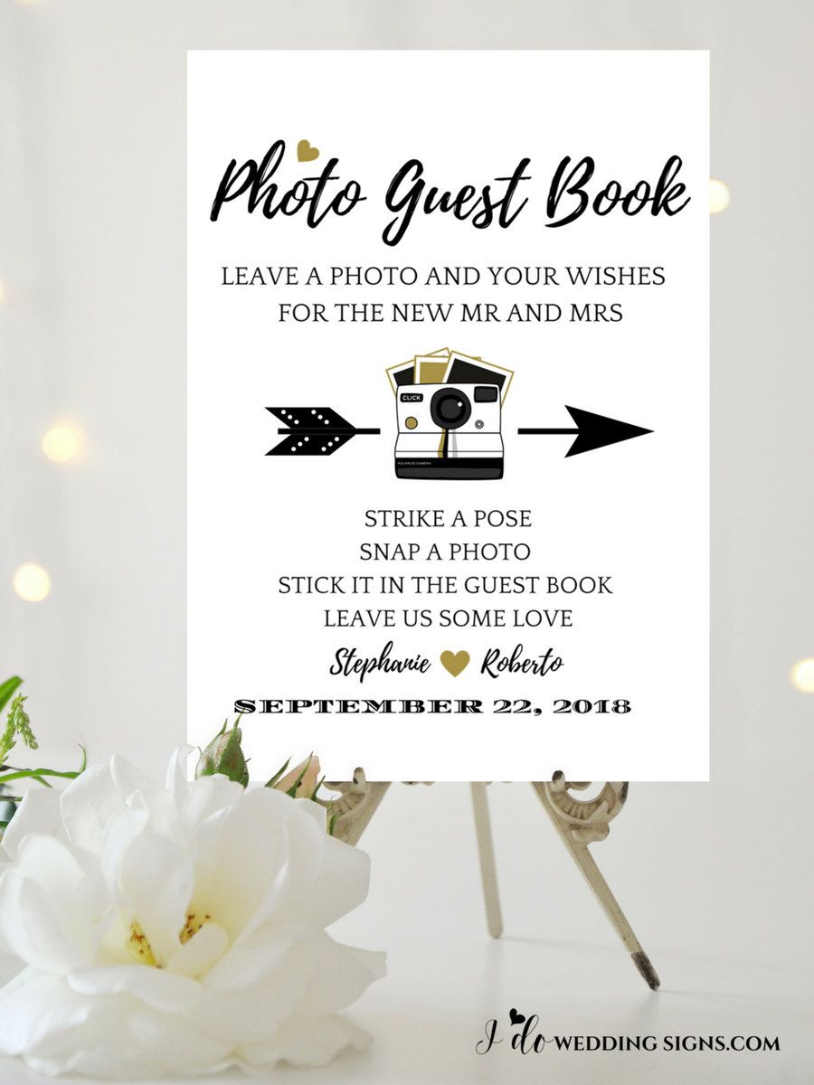 Photo Guest Book Wedding Sign Template For Your Alternative