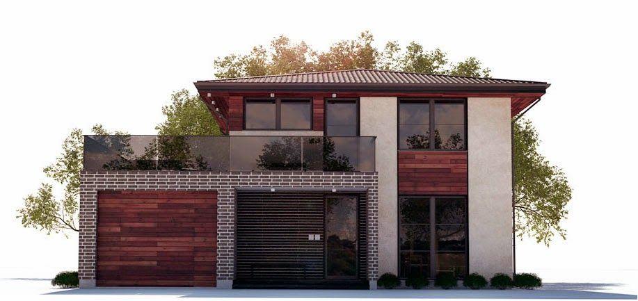 Planos de casa moderna 2 plantas planos pinterest planos de casas modernas planos de casa - Planos de casas con garaje ...