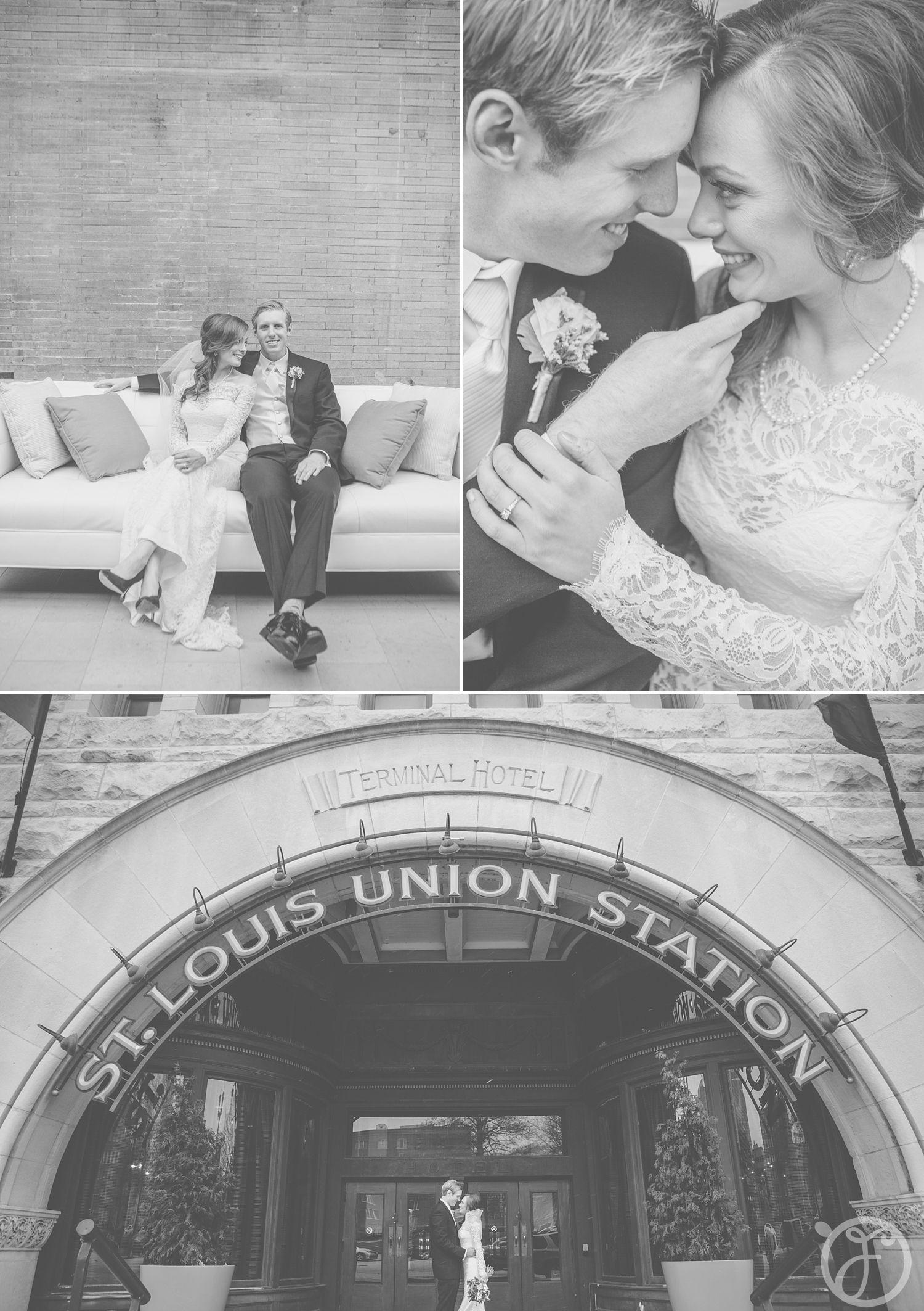 winter wedding photos, union station, st louis wedding photographers
