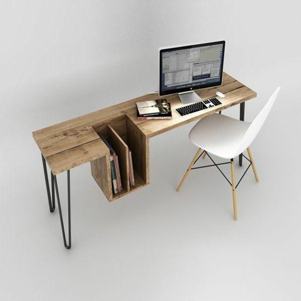 Pc Tische Möbeldesign Computertisch Holz Minimalistisches Design