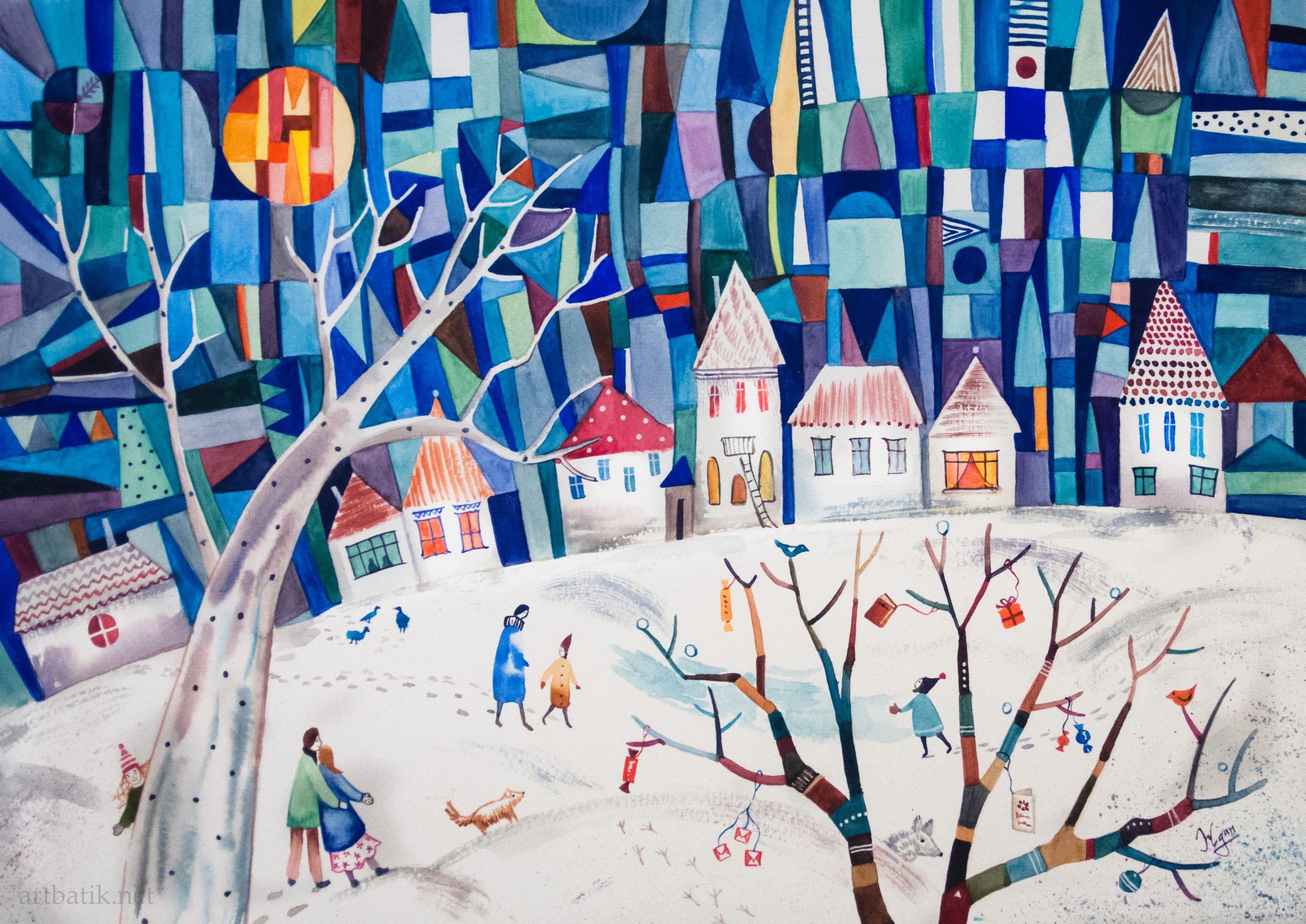 Декоративные картинки зима