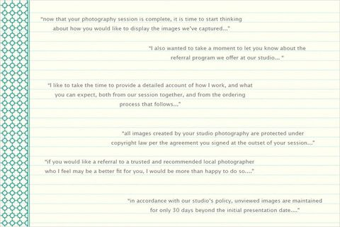 Studio Email Assistant Correspondence letter, Photography and - business referral agreement