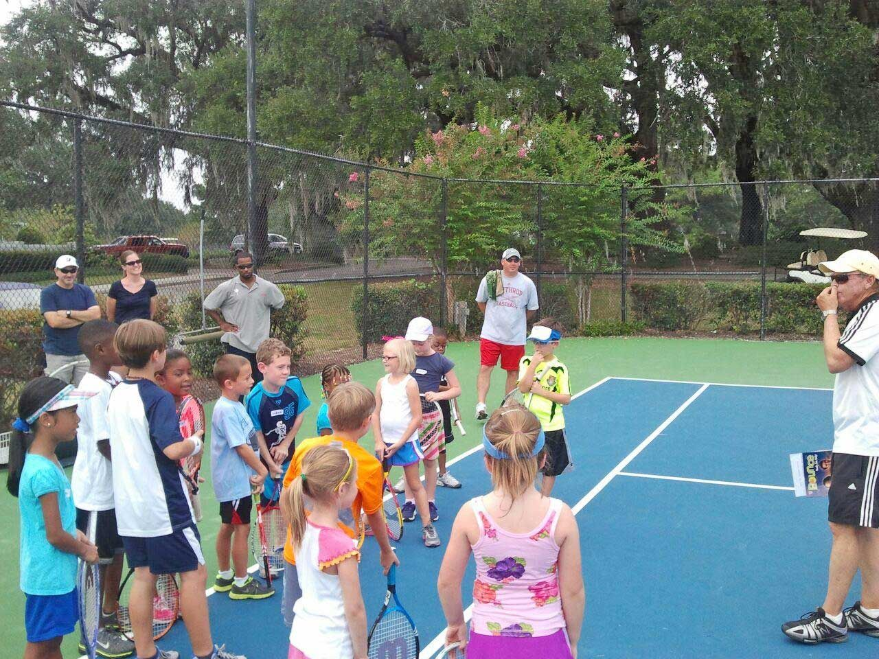 Nickelodean kids tennis day at legend oaks summer swim