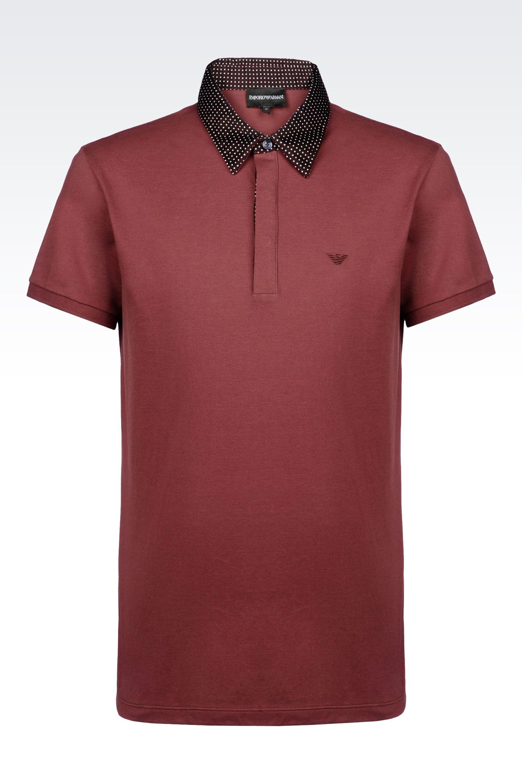 Armani Short sleeved polo shirt HlJ4NbJ