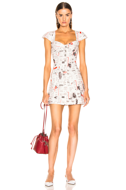 Miaou Gigi Dress In Newsprint Fwrd Gigi Dress Dresses Bustier