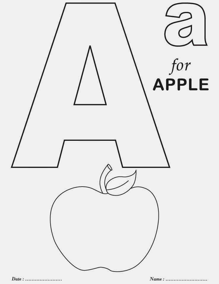 Atividades Alfabeto De Colorir Em Ingles Com Imagens Paginas