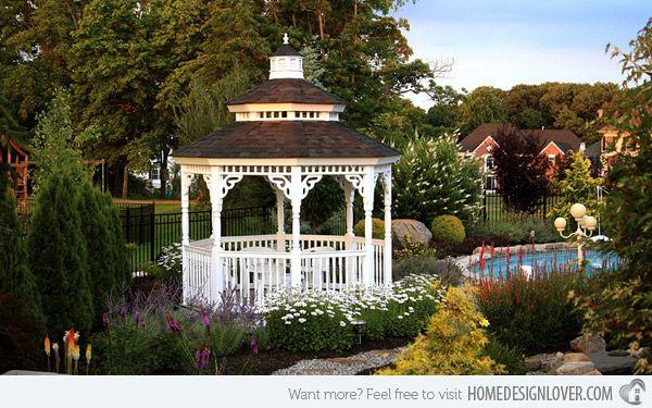 Superb Beautiful Gardens With Gazebo | Image: Amishgazebos Awesome Ideas