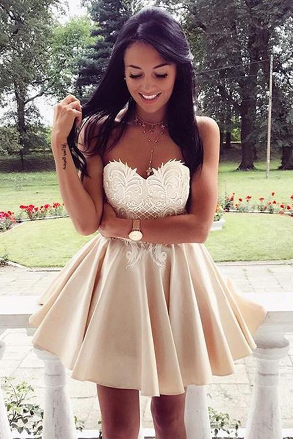2ea61c8e245 Sweetheart Strapless Homecoming Dresses