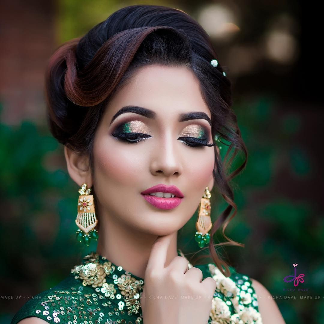 Another Glimpse Of Bride Model At Mumbai Seminar And Workshop Mumbai Makeup Bride Model Makeup