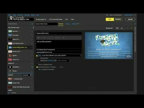 How to use Proclaim Church Presentation Software - YouTube