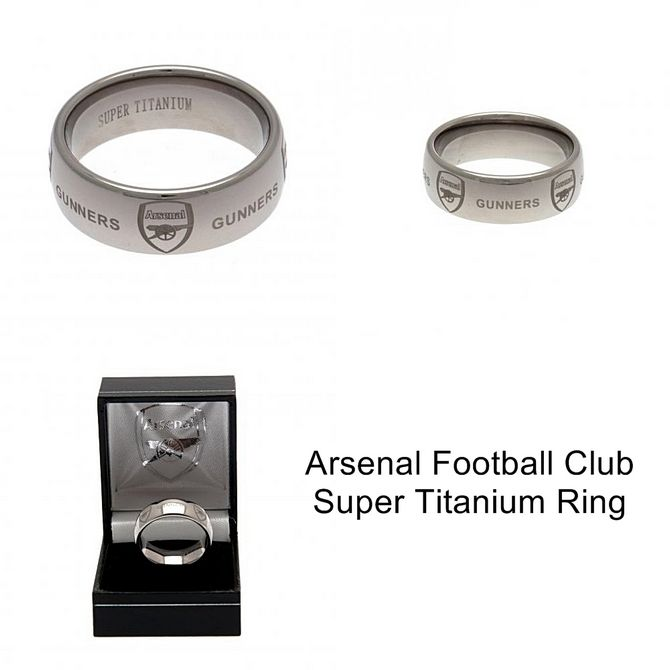 bf7da02e8742d4 Rings for Men: Arsenal FC Super Titanium Ring Large - Arsenal Football Club  #FineGifts #OfficialFootballClubProducts