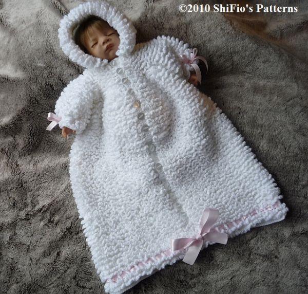 Crochet pattern patterns baby sleeping bag reborn #134