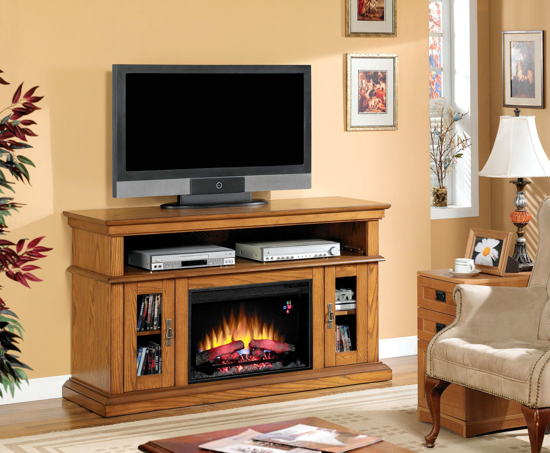 Classic flame belmont 60 quot tv stand with electric fireplace - Find This Pin And More On Classicflame Electric Fireplace Tv Stands