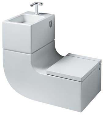 W W Washbasin Water Closet By Roca Sanitario Tiny Bathroom Sink Toilet Design Small Space Solutions