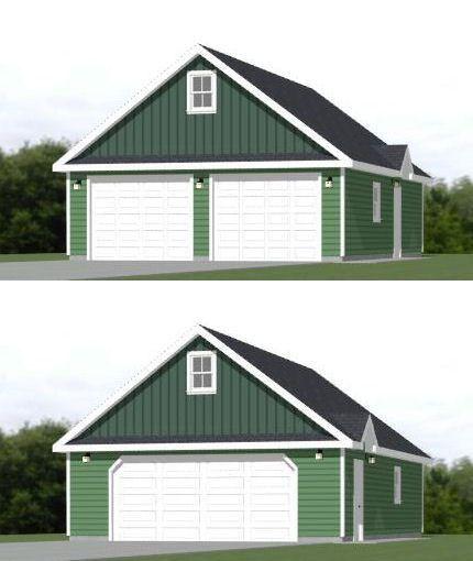 24x36 2 Car Garage 24x36g11c 1 344 Sq Ft Excellent Floor Plans Garage Building Plans Floor Plans Garage Plans