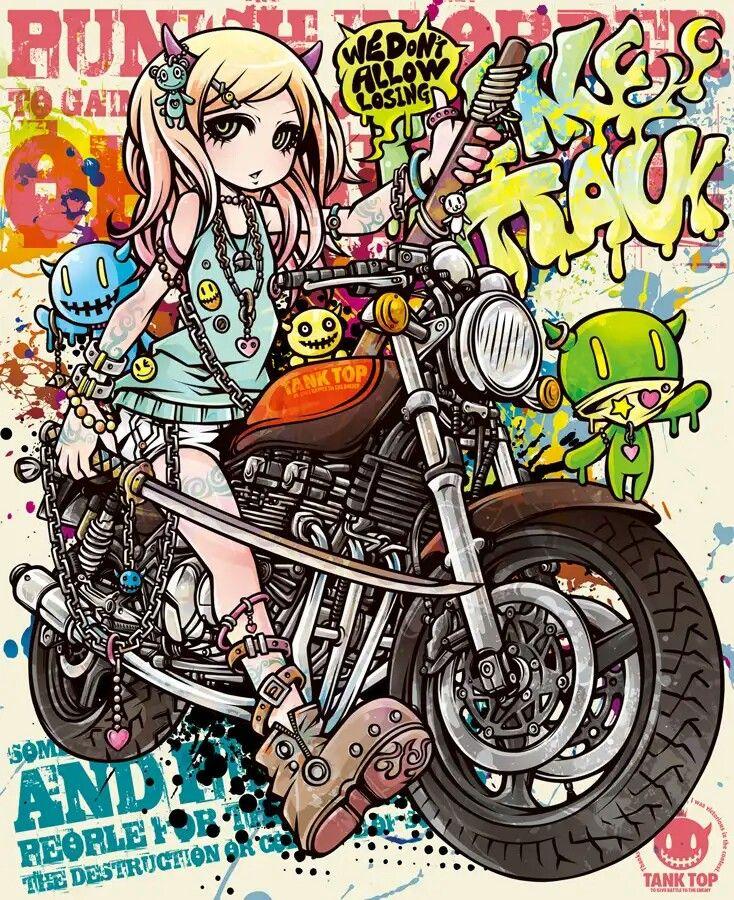 Pin by Robert Acuña on illust Kawaii art, Graffiti girl