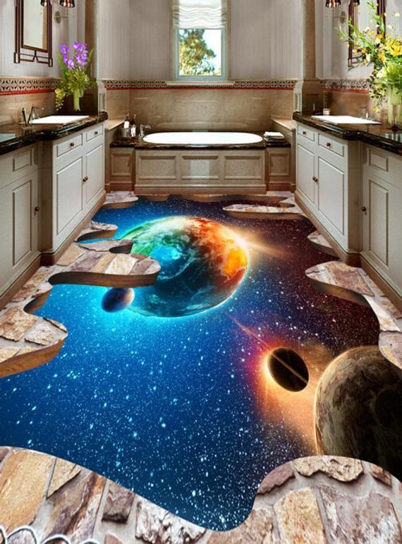 3D The Space 562 View Floor Wallpaper mural Floor Mural Wall Print Decal Wall Deco Indoor wall Murals Wall Sticker