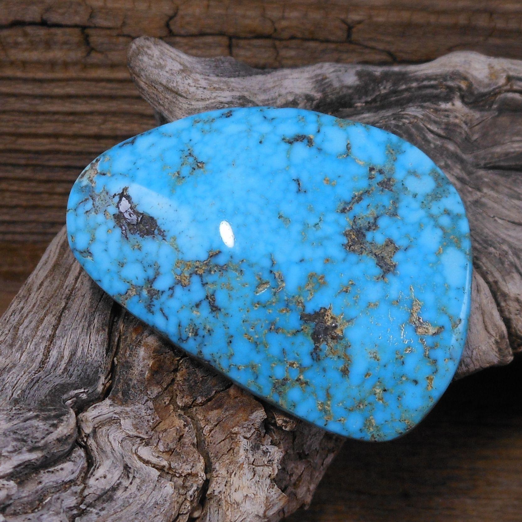 Handcut Natural Sleeping Beauty Turquoise Cabochon; Natural Arizona