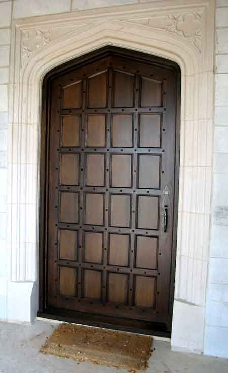 Exterior Tudor Door With Frame And Trim By Masterpiece Furniture Creations  Austin, TX 512