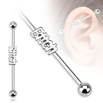 Industrial Barbell 14ga Surgical Stainless Steel upper Ear Jewelry Upper Ear Scaffold bar