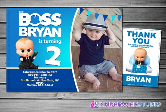 Boss Baby Birthday Printable Party Pack Kit Deco