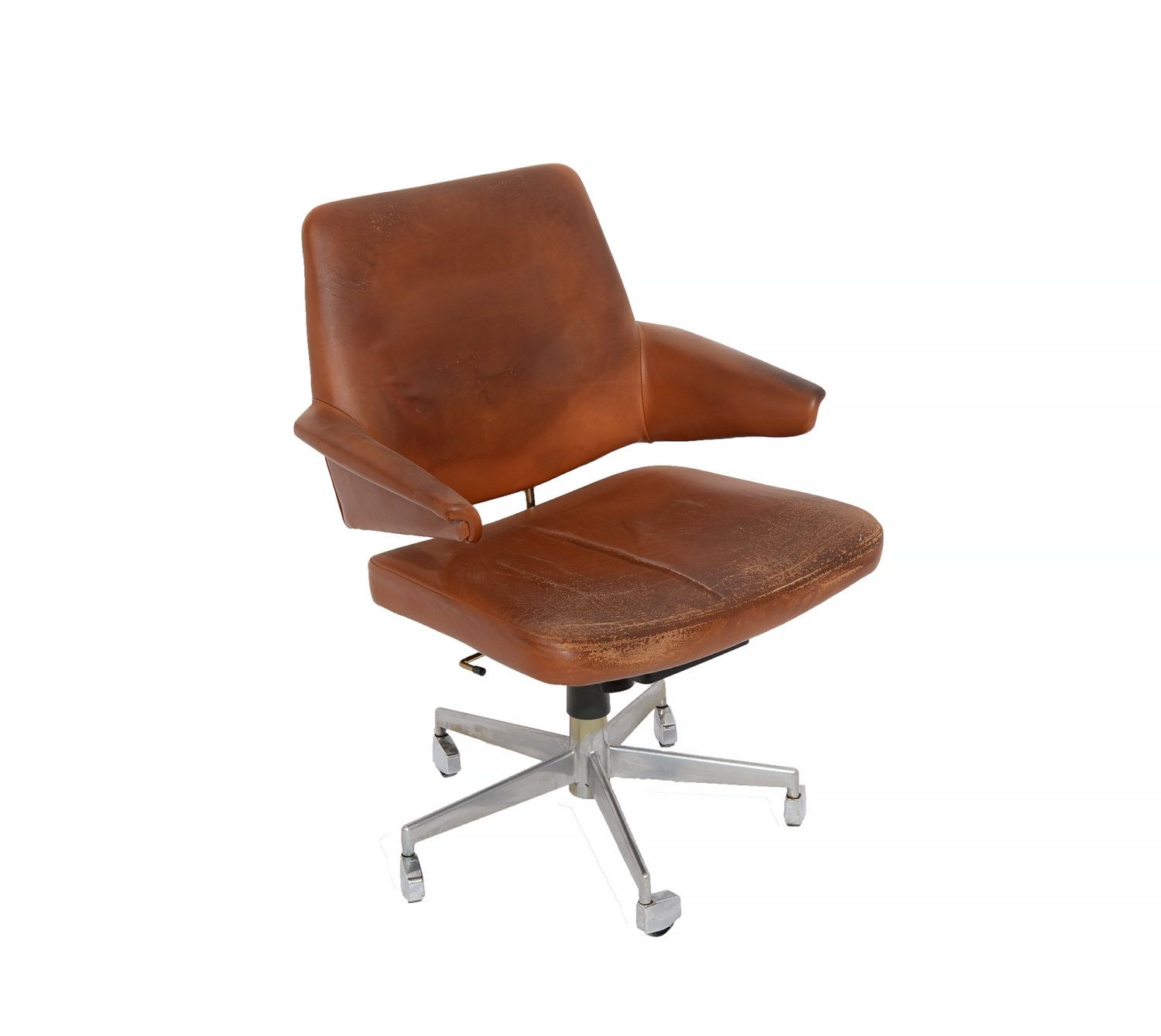 modern office chair leather. Leather Office Chair, Mid Century Modern Danish Desk Chair Teak Arms By HearthsideHome On M