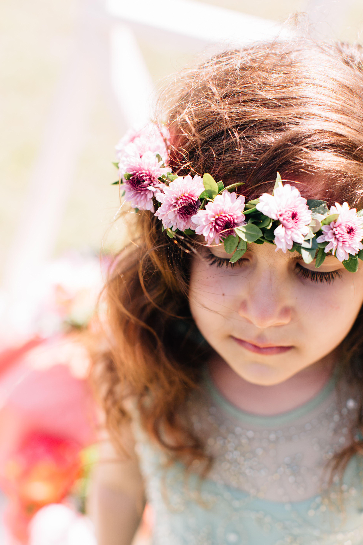 Flower girl head wreath with lavender chrysanthemum blooms photo flower girl head wreath with lavender chrysanthemum blooms photo httpwww izmirmasajfo