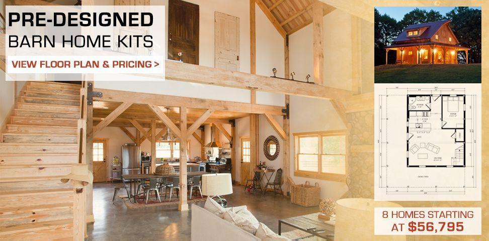 Barn Post Beam Homes Plans Loft Living Space Rustic Cabins