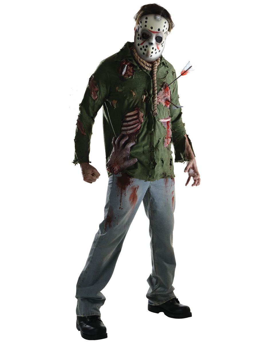 friday the 13th jason deluxe adult mens costume – spirit halloween
