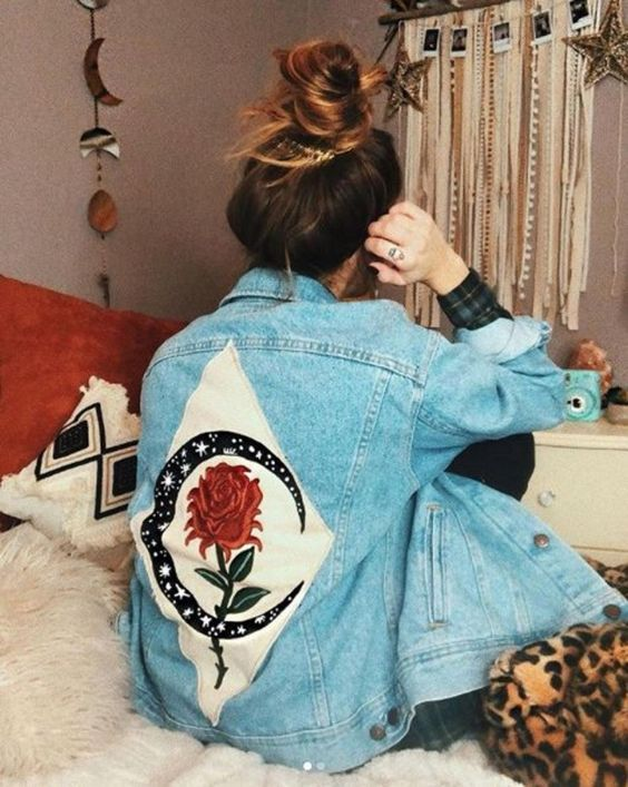 Jean jacket painted