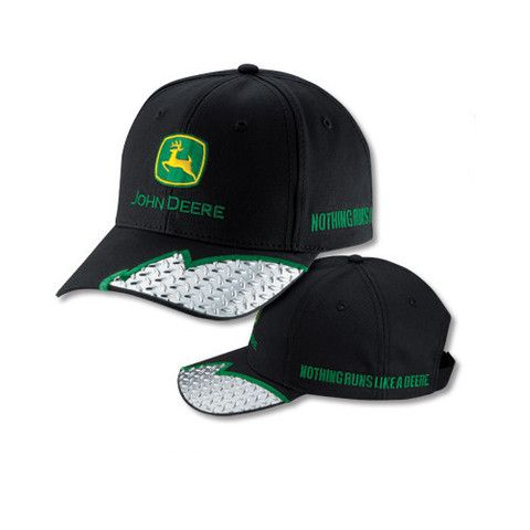 John Deere Black Cap With Diamond Plate Detail On Bill – GreenToys4u ... 9824edc3b01